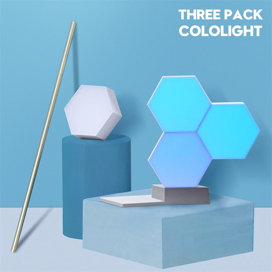 Lifesmart Quantum Lamp DIY LED Novelty Night Light Creative Geometry Assembly Smart APP Control For Google Home Amazon Alexa
