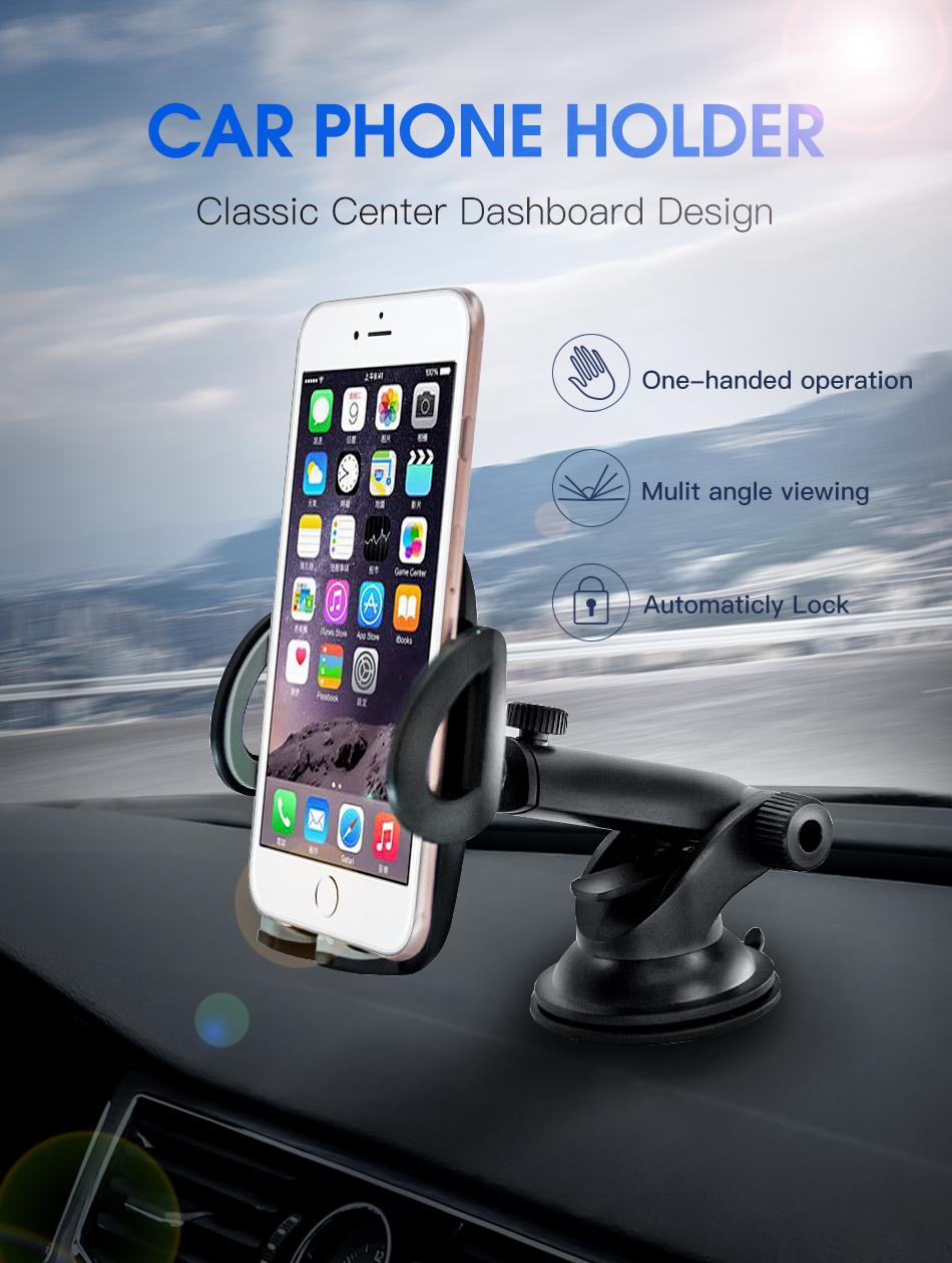 !ACCEZZ Car Phone Holder For iphone X 8 7 XR XS MAX Huawei Samsung Xiaomi Universal Car Gravity Sucker Smart Phone Stand Bracket (1)