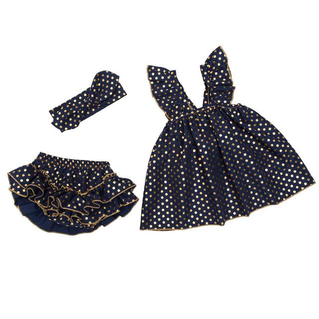Bebé Infantil 3 unids Ropa Conjuntos vestidos de fiesta vestidos Del Tutú del bebé diseños levitas Nena de Papá Noel de los Trajes Vestidos de Cumpleaños