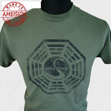 Dharma Initiative Lost New T Shirt Series Oceanic Retro Vintage Cool G Shirts Funny Tops Tee Unisex