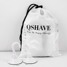 QSHAVE Beard and Moustache Catcher Apron Cape Bib for shave with Suction Cups Attach to Mirror Bearded White 130cm*82cm