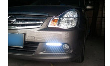 Daytime running light LED DRL lamp for Russian Nissan Almera Bluebird 2010-1014 L+R per pair