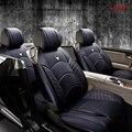 Marca de Cuero de Lujo de la Cubierta de Asiento de coche Cuatro estaciones cojín del asiento de coche cubierta de asiento de cuero del coche 5 asiento