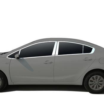 Cromo automóvil Auto cuerpo ventana puerta Exterior de alta calidad cubiertas modificación accesorios protector ribete 18 19 para Kia K3