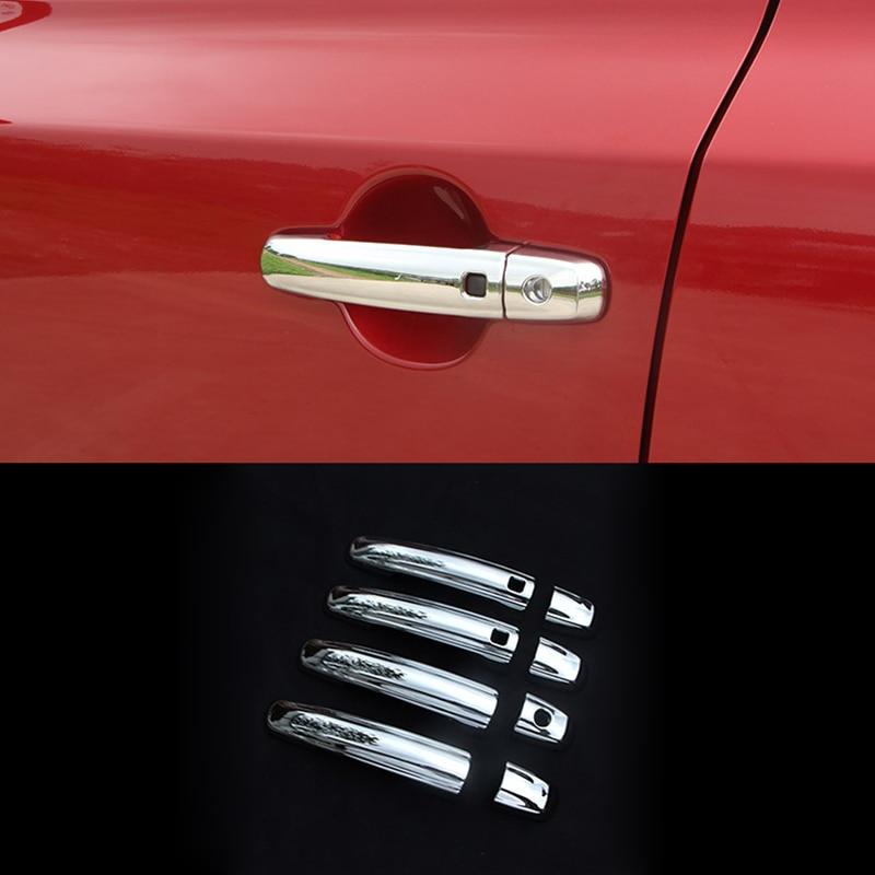 Chrome Cover For 2013 2014 2015 2016 2017 Dodge Journey Door Handle W// Smart Key