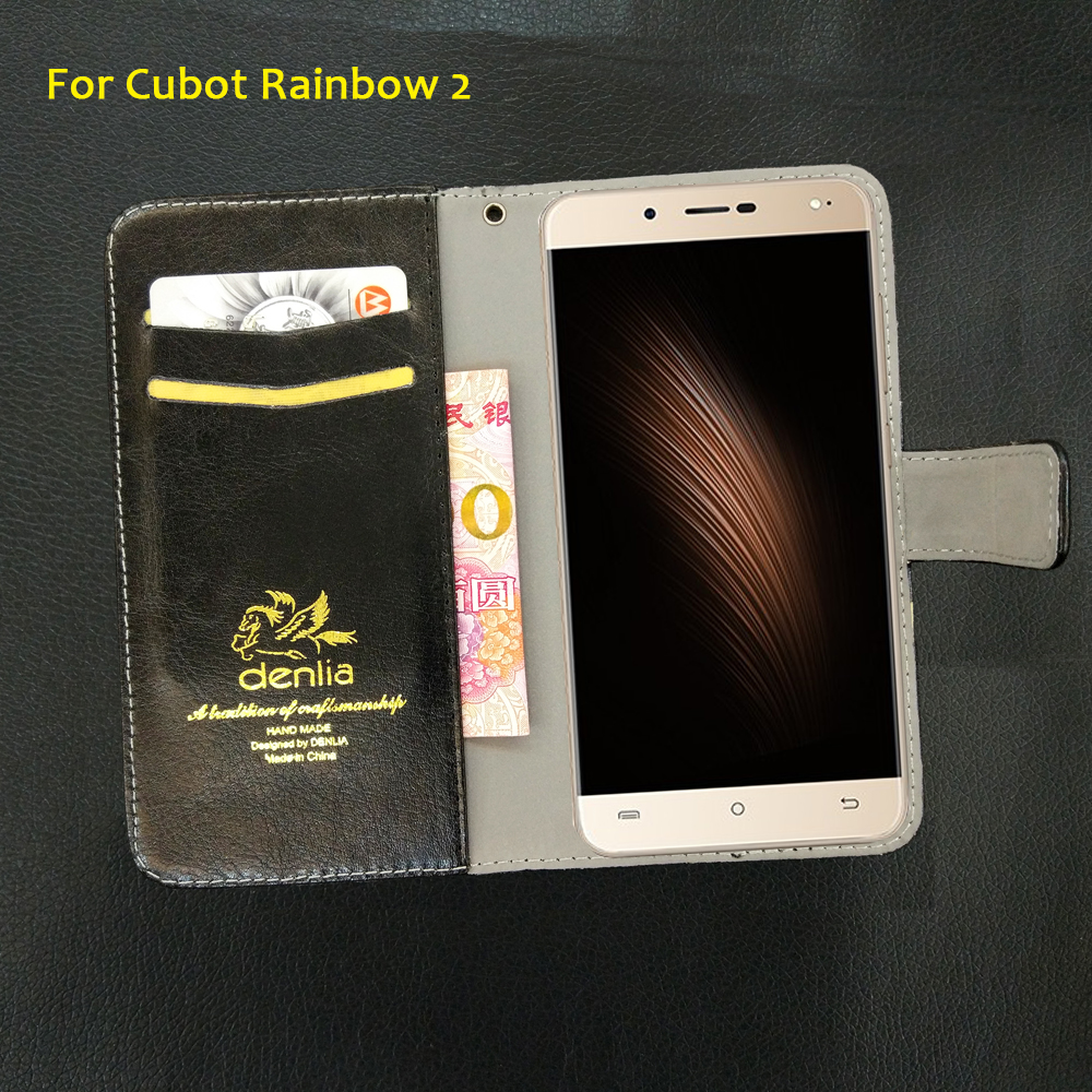 TOP New Cubot Rainbow 2 Case 5 Colors Flip Luxury Leather Case Exclusive Phone Cover Credit