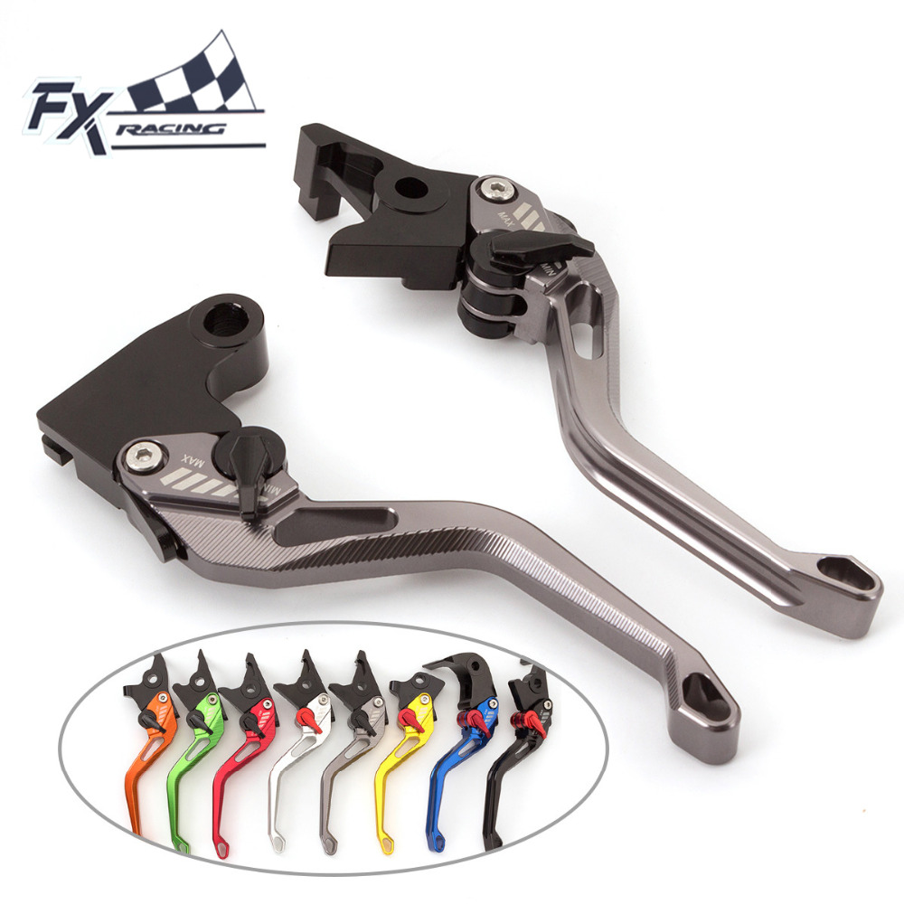 FX CNC Aluminum New Adjustable 3D Rhombus Motorcycle Brake Clutch Lever For KTM 690 Duke R 2014 - 2017 2016 15 Moto Brake Levers short long brake clutch levers for ktm 1290 990 super duke r 1190 rc8 r 690 supermoto r duke r motorcycle adjustable cnc