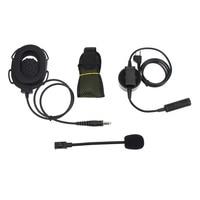 talkie walkie 2 באומן טקטי פין עלית II אוזניות עם מיקרופון PTT Waterproof עבור G6 Talkie Walkie מידלנד G7 GXT550 GXT650 LXT80 LXT112 LXT435 (2)