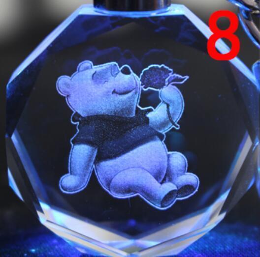 Брелок светодиодный кристалл Микки Маус в ассортименте 4