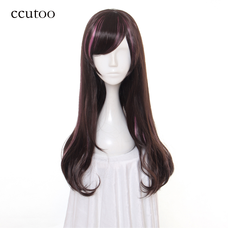 cocoș 60cm X păr lung sintetic YouTube Anchor femeie A.I.Channel Kizuna AI Cosplay Wig