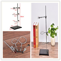High Retort Stand Iron Stand 50CM With Clamp Clip School Education Laboratory Ring Stand Supplies Educational Equipment 1 Set