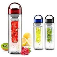 700ml Fruit Juice Cup Infuser My Sport Drinking Detox Water Bottles Flip Lid TRITAN BPA Free Health Lemon Bicycle Bottle 3colors