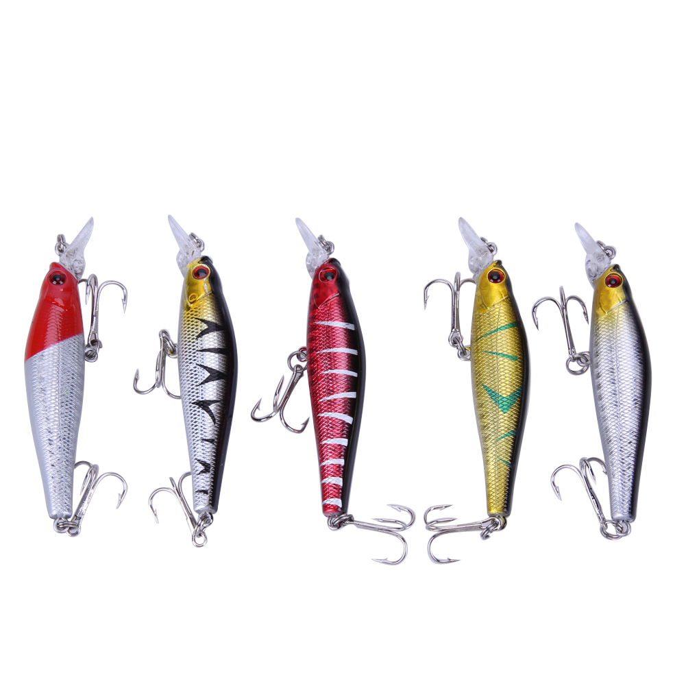 6pcs Fishing Lure 0.5-1.5M Deep Hard Bait 8.5CM 9G Artificial Baits Minnow Pesca Fishing Lures
