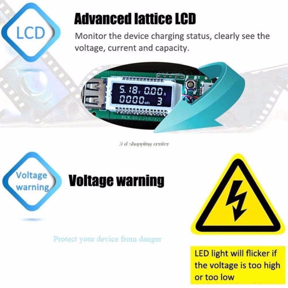 Przyjazd LCD Ładowarka Micro USB Pojemność baterii Tester - Przyrządy pomiarowe - Zdjęcie 5