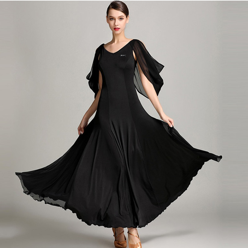 3 colors ballroom dance dresses standard ballroom dancing clothes Competition standard dance dress waltz flamenco ballroom dress