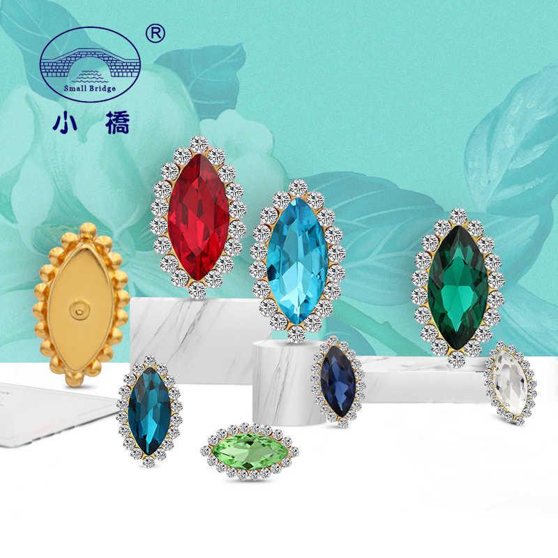Tỏa sáng Pha Lê May Thạch Cho Quần Áo Ăn Mặc Hoa Lỏng Lẻo Trang Trí Rhinestone Mix Color Glass Thạch Với Claw S134
