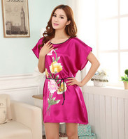 2017 Fashion Women S Printed Pure Silk Sleepwear Summer Style Women S Home Clothes Loose And