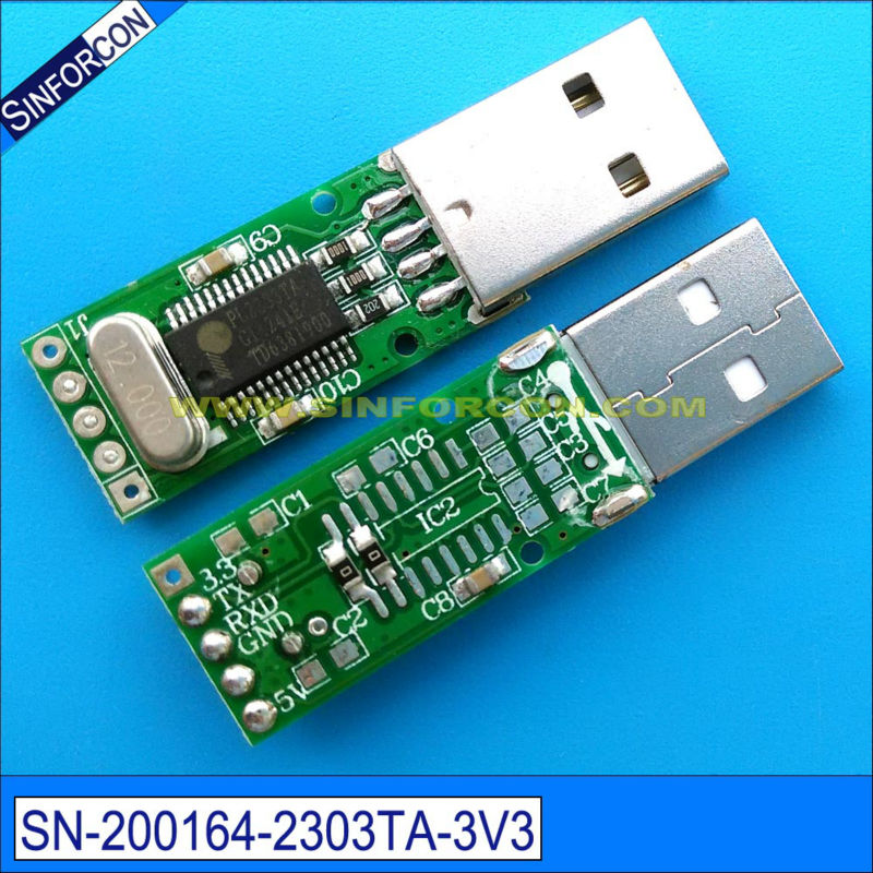 pl2303ta usb uart ttl 3.3v naar 2.5mm min jack adapter productieve - Computer kabels en connectoren - Foto 3