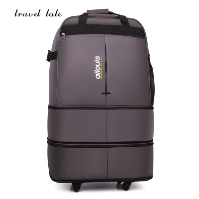 travel tale 32/36 Inch Spinner waterproof portable Travel Suitcase Nylon cloth fabrics, air carrier bag, Folding bag