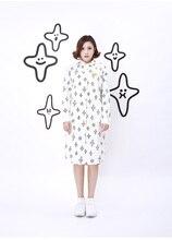 S41-autumn и зима хлопчатобумажное платье полный звезда с печатным рисунком свободные длинная рубашка Платья для женщин, поддержка груза падения