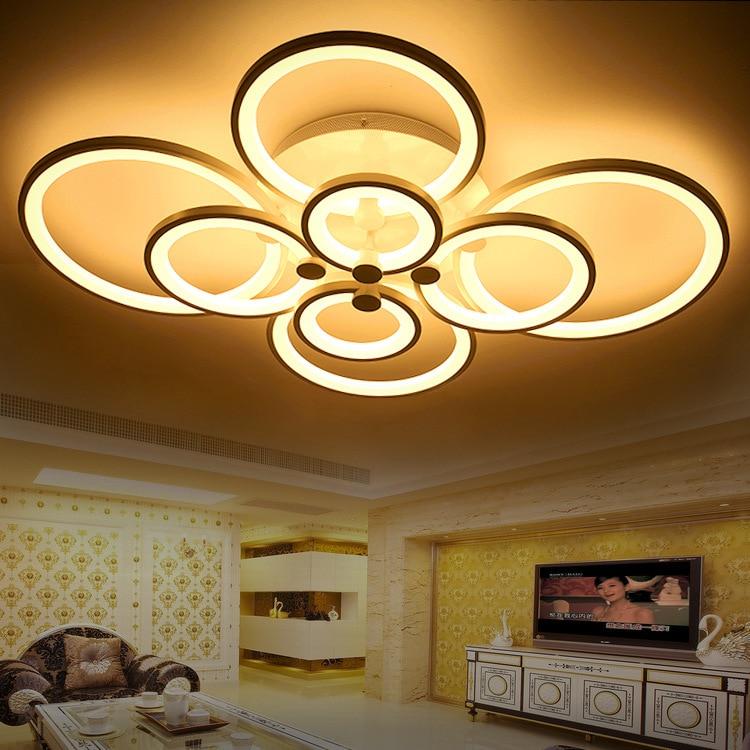 110v 220v Acrylic Luminaria Led Modern Lamps For Living Room Lights Luminaire Plafonnier Led Moderne Plafondlamp 5 Beau Plafonnier Led Moderne Lok9