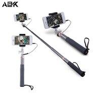 ALBK 3.5mm Jack Kabel zelfontspanner Sluit Afstandsbediening Selfie Stick Monopod Camera Shutter met Clip Beugel voor Smartphone