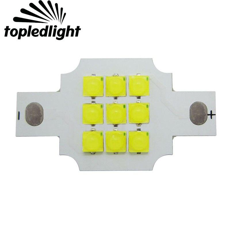 Customize 10W High Power DIY 9LEDS Epistar 3535 White 6000-6500K 9-11V 900mA Led Emitter Light For Downlight Bulb Lamp
