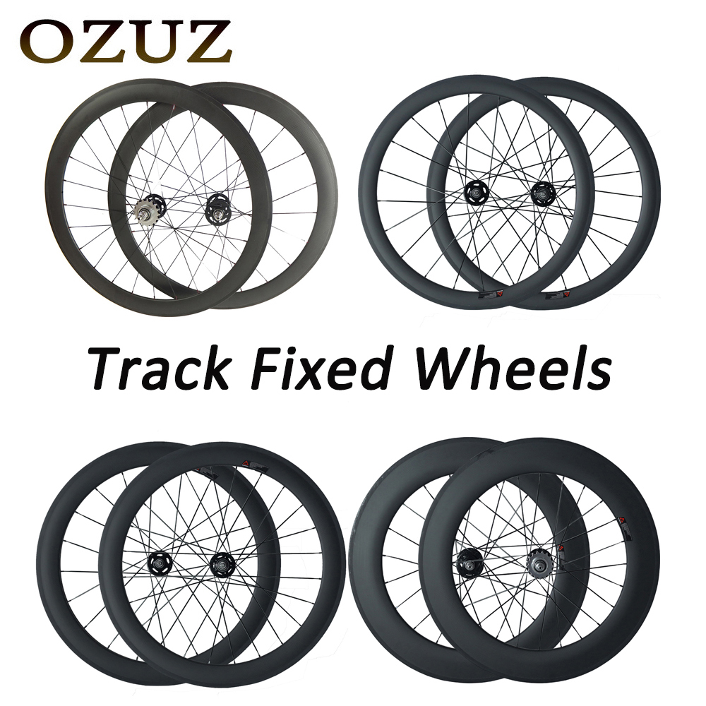 700c Track Bike Wheelset 38 50 88 mm Deep Cycling Carbon Wheels Clincher Tubular Matte 17T