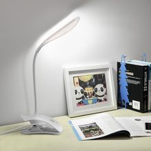 Book Reading Light USB LED Reading Lamp With Clip Flexible Bending Dimmer Touch Book Light Lampara Lectura Luminaria(China)