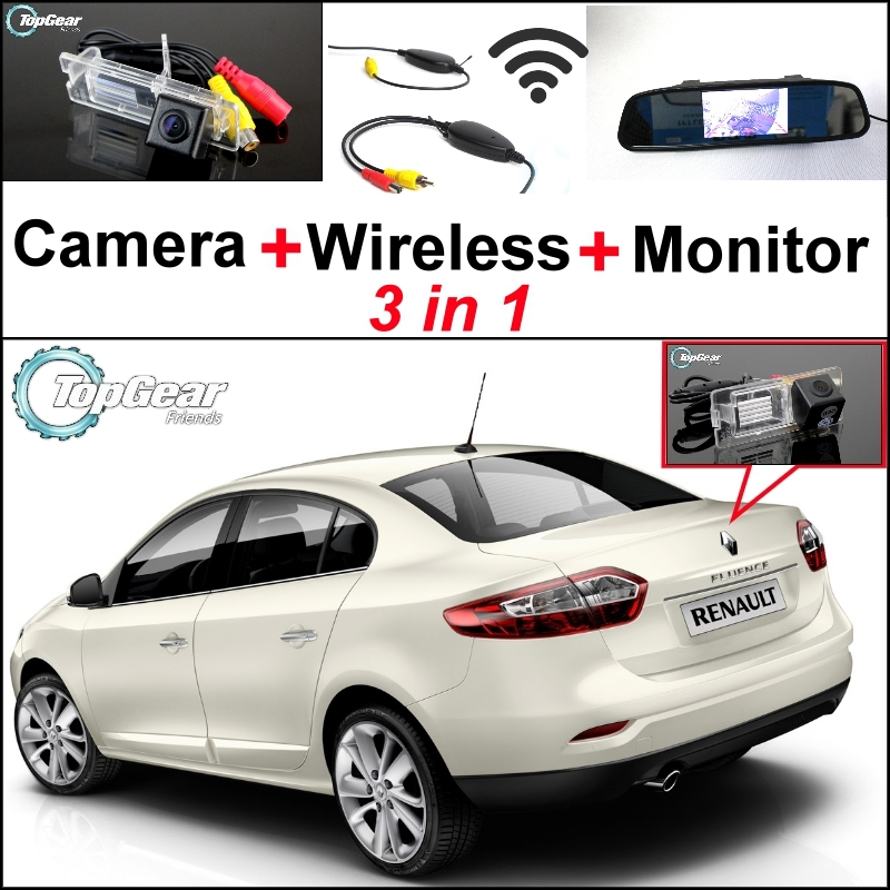 ФОТО 3 in1 Special Camera + Wireless Receiver + Mirror Monitor DIY Parking System For Renault Fluence 2009~2014