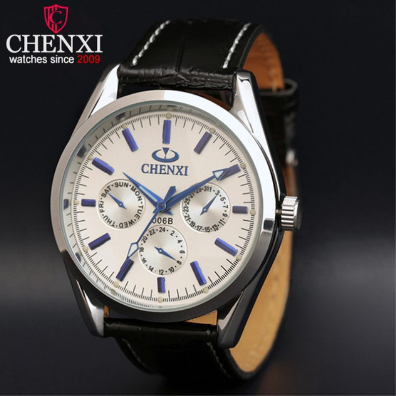 CHENXI Watch For Man Luxury Brand Design Men Leather Wristwatch Stainless Steel Case For Business Gent Sport Watch PENGNATATE chenxi business men watch luxury brand leather bracelet wristwatch life waterproof for sport top quality quartz clock pengnatate