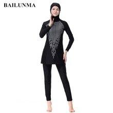 Modest Full Cover Muslim Swimwear Plus Size Female Swimsuit Beach Bathing Suit Burkinis for Girls Sequins print
