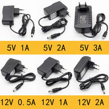1pcs 100-240V AC to DC Power Adapter Supply Charger adapter 5V 12V 1A 2A 0.5A EU Plug 5.5mm x 2.5mm/5v3aDC Plug Micro USB(China)