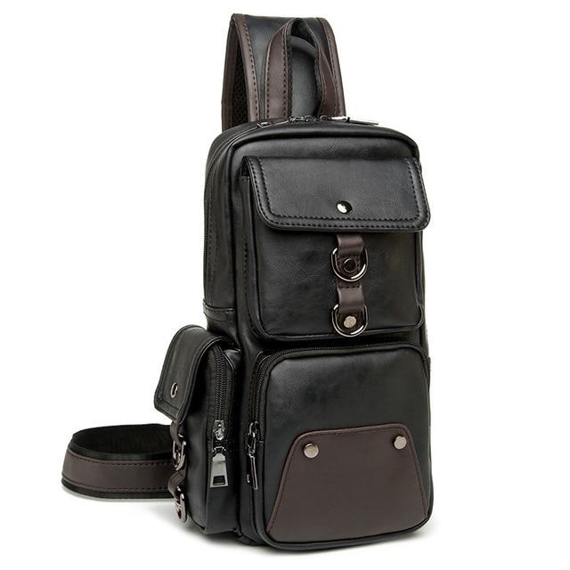 e572327ef9 Leather Men Bag Casual Business Leather Mens Chest Bag Vintage Men s Small Shoulder  Bag Luxury Men s Handbags Designer