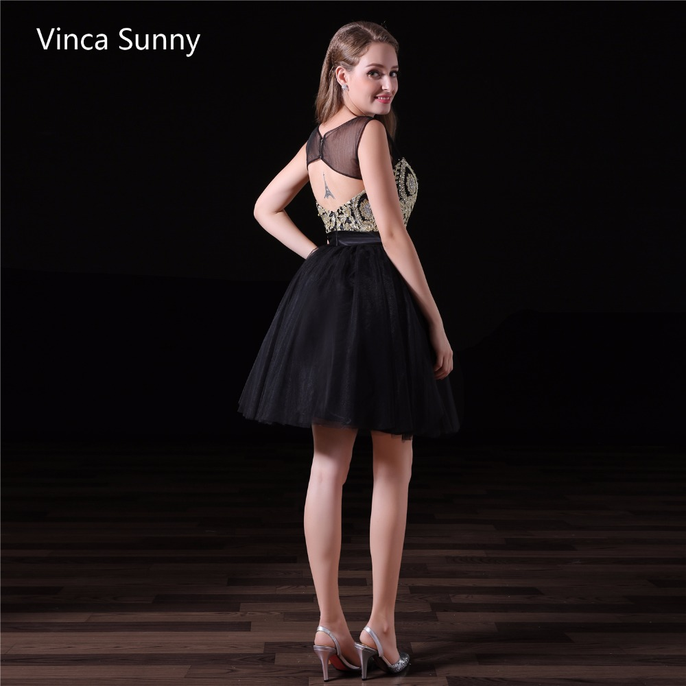 Vinca Sunny 2018 Schwarz Cocktail Party Kleid Abschlussfeier Kleider ...