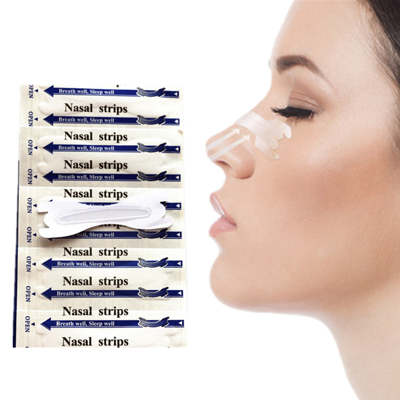 (66x19mm)300pcs/lot Disposable Breathable Anti-Snoring Device Sleep Well Clear Nasal Strips