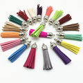 58mm Mix Color Suede Tassel For Keychain Cellphone Straps Jewelry Charms,50pcs Leather Tassels Diy Accessories