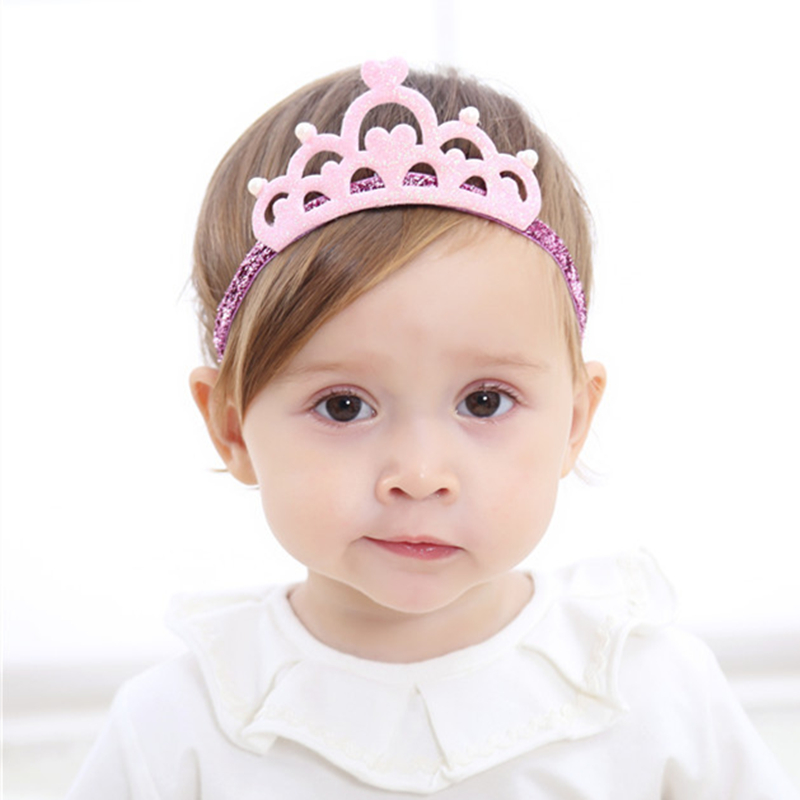 cute pink baby hair crown