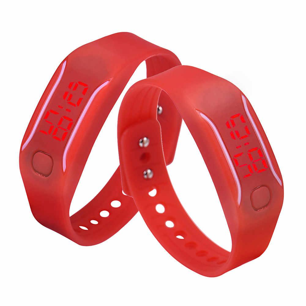 גברים נשים סיליקון אדום LED שעון תאריך ספורט צמיד יד דיגיטלית שעונים לליידי בנות זכר Relogio Feminino Reloj Hombre