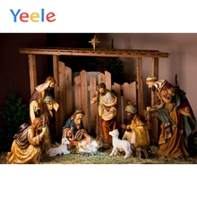 Yeele Christmas Christian Jesus Nativity Scene Baby Photography Background Seamless Vinyl Photographic Backdrop For Photo Studio