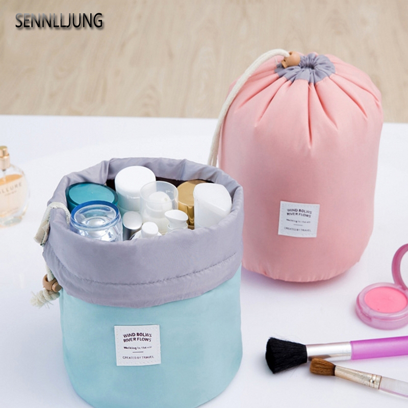 SENNLLJUNG Organiser Cosmetic Bags Storage Bag Make up Bag Nylon New Fashion Brand Toiletry Women Travel Bag