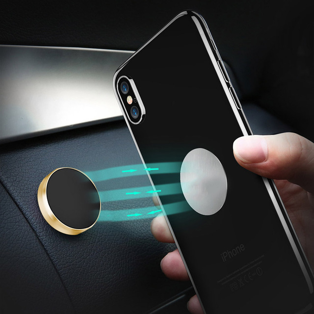 Soporte magnético para teléfono de coche Lieve, soporte de soporte para teléfono móvil con imán de Metal para escritorio de pared Universal