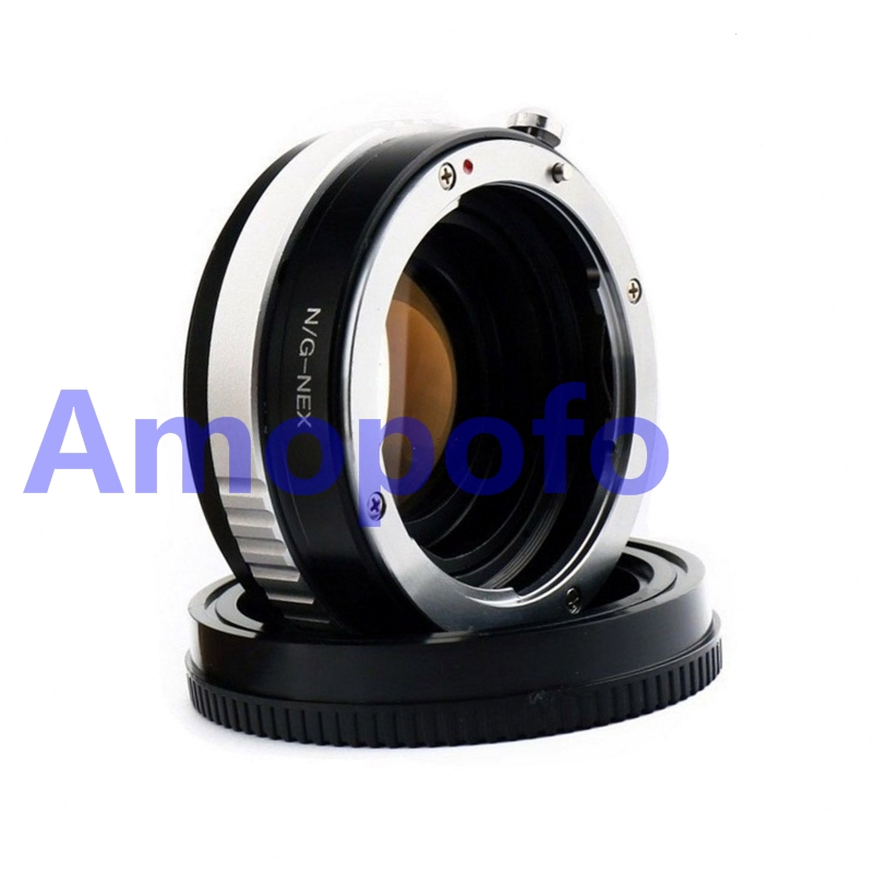 Amopofo N/G-NEX Focal Reducer Speed Booster Adapter for Nikon G mount Lens to for Sony NEX A5100 A6000 A5000 A3000 NEX-5T lens adapter ring suit for hasselblad to sony nex for 5t 3n nex 6 5r f3 nex 7 vg900 vg30 ea50 fs700 a7 a7s a7r a7ii a5100 a6000