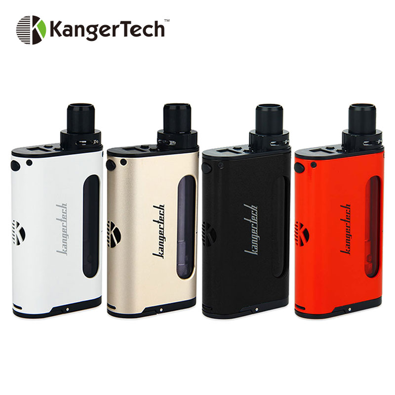 Original Kangertech CUPTI 75W TC Starter Kit with 5ml Large Tank Capacity No 18650 Battery Box Mod MTL and DL Vaping Vape Kit original kangertech cupti kit 75w tc aio kit with top filling top airflow 5ml atomizer ss316l 1 5ohm clocc coil no 18650 battery