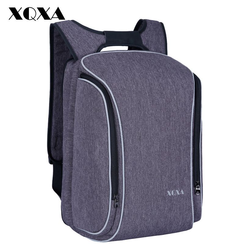 XQXA Brand Laptop Backpack Men's Travel Bags Multifunction Rucksack Water Resistant Oxford School Backpacks For Teenagers Boys