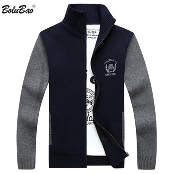 BOLUBAO manga larga suéteres de otoño invierno Casual Cardigan algodón  loose suéteres hombres suéter capa b1b7675d073