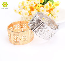 Fashion Amazing Gold/Silver Bracelet Bangles Charm Bangle Hollow Bracelets For Women Brand Bangle Jewelry