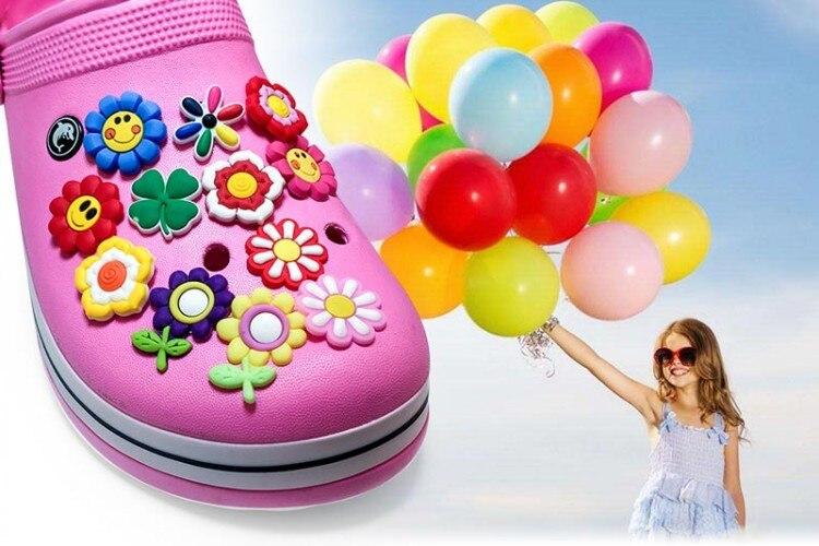 Image 2 - 100PCS Mickey Sesame Street Cartoon PVC Shoe Charms Avenger Shoe Accessories croc decorations jibz  shoe buckles kids giftpvc shoe charmsshoe charmsshoes accessories -
