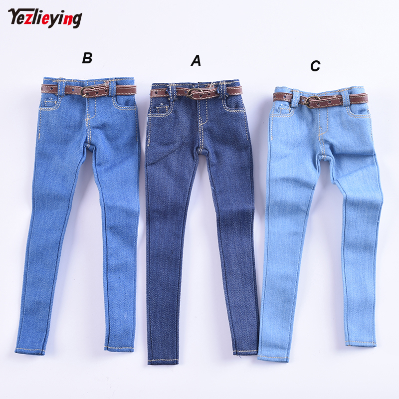 1/6 Scale Women's Clothes Annex Female skinny Jeans Tight CF001 A/B/C for 12 Inch PH Doll Jiaoudol BodyAction Figure Accessories-0