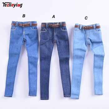 1/6 Scale Women's Clothes Annex Female skinny Jeans Tight CF001 A/B/C for 12 Inch PH Doll Jiaoudol BodyAction Figure Accessories